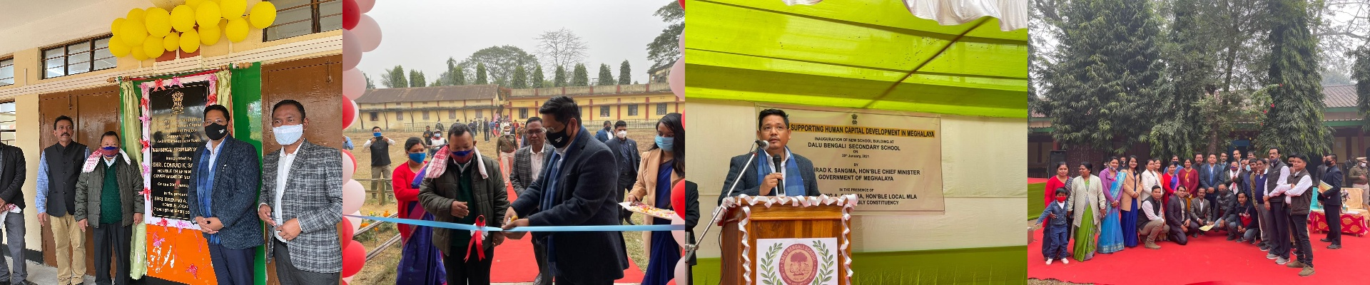 CM inaugurate the new school building at Dalu