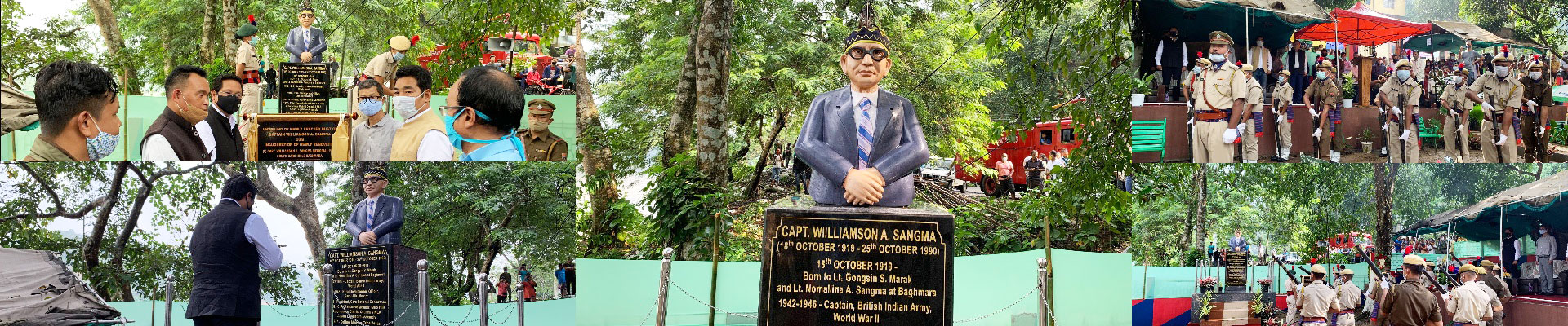 CM unveiled the new bust of Captain Williamson A. Sangma at Baghmara