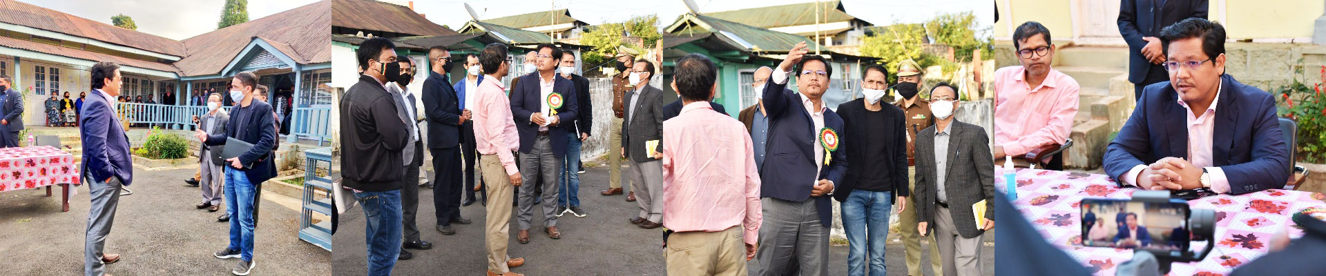 CM inspected the proposed site for the Mini Secretariat at Jowai