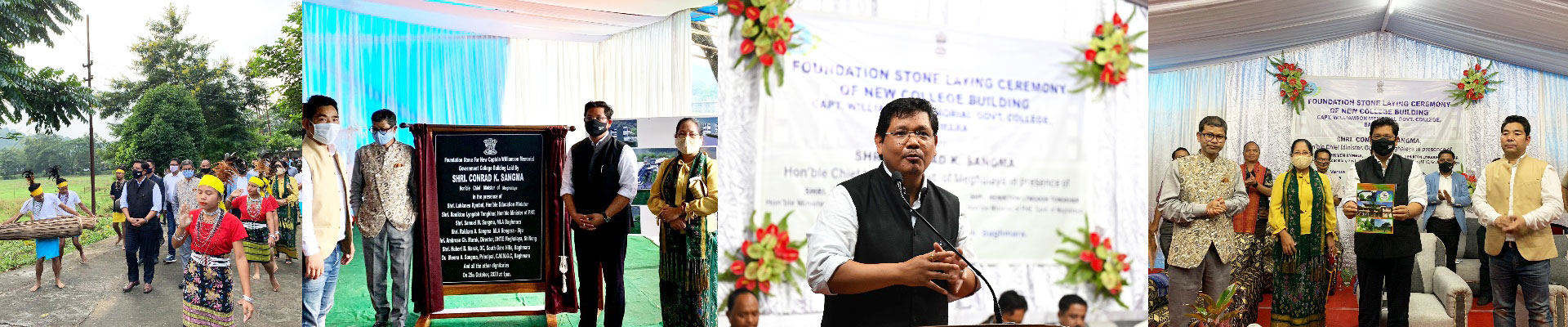 CM laid foundation stone at Capt Williamson A Sangma Memorial College, Baghmara