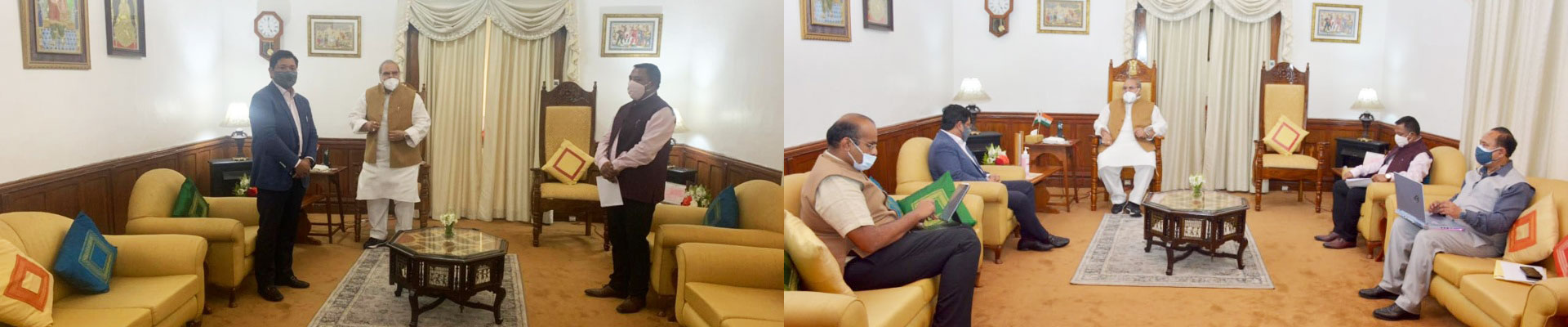 Hon'ble Governor, Shri Satya Pal Malik had a consultative meeting with Hon'ble CM